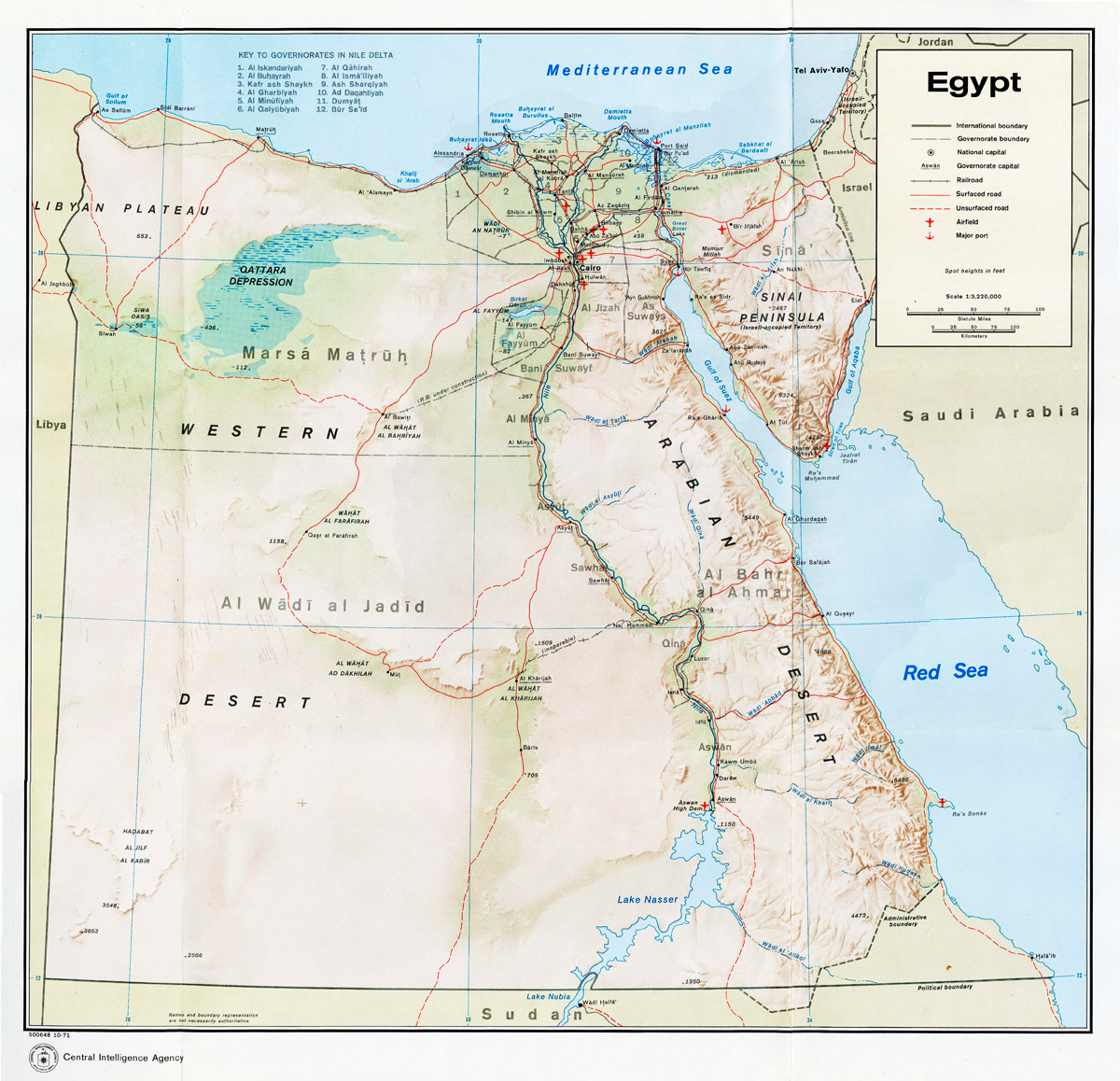 Maps Of Egypt Libya - Map of egypt picture