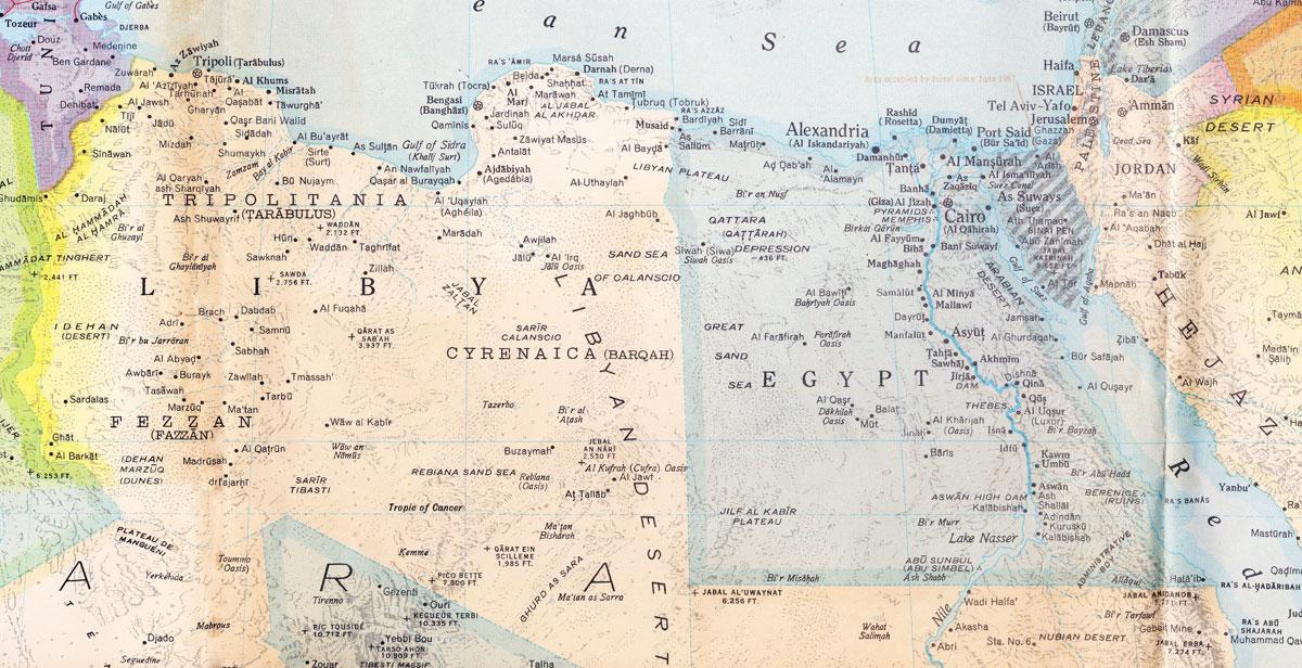 Maps Of Egypt Libya - Map of egypt libya